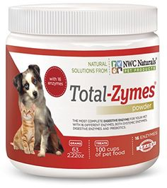 NWC Naturals TotalZymes  Enzymes for Canines and Felines  Treats 100 Cups of Pet Food Vegetarian Formula -- You can find more details by visiting the image link. (This is an affiliate link)