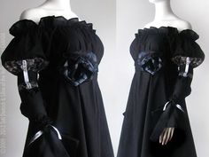 Long Black Wedding Gown Long Prom Dress by PlusSizeClothing, $140.00