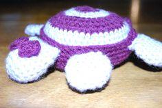 Crochet turtle.