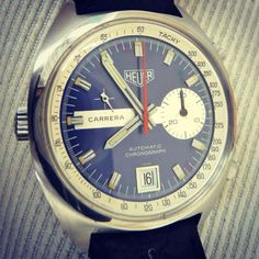 Heuer Carrera Calibre 15. Beautiful vintage Heuer!