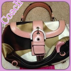Authentic Coach Small Satchel This was one of Coach Rare & Seasonal Limited Edition small satchel. Very CUTE & great condition. Can't remember using this bag more than 2x Coach Bags Satchels