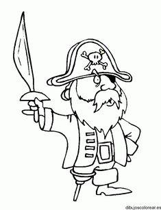 53 mejores imágenes de Piratas | Free coloring pages, Borders