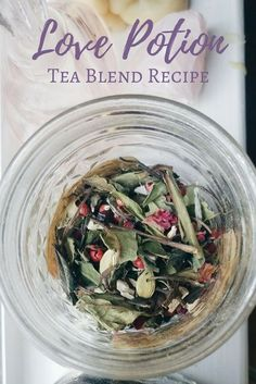 Love Potion Tea Blend Recipe just in time for Valentines Day!<br> A love potion tea blend recipe that includes rose, white peony, rosehips, pink peppercorns, cardamom and marshmallow root. Te Chai, Potions Recipes, High Tea Food, Homemade Tea, Tea Benefits, Tea Blends, Kitchen Witch, Tea Recipes, Herbal Remedies