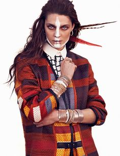 Marina Perez Models Tribal Chic Jewelry for Rabat by Xavi Gordo