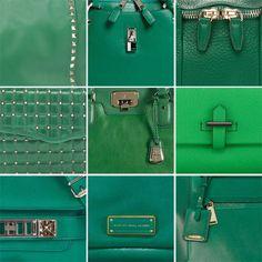 Emerald Green Bags  #pantone #emerald #green #purses #bags