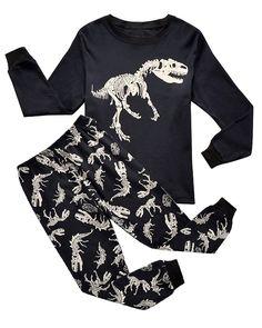Amazon.com: Boys Pajamas Dinosaur Little Kids Pjs Sets 100% Cotton Toddler Sleepwears: Clothing