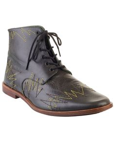 SIGHTSEEN Zig-zag leather ankle boots