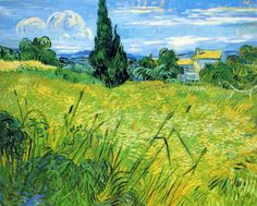 Green Wheat Field with Cypress ~ Vincent van Gogh