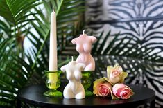 Gorgeous Soy Venus Goddess Candle Candle Tray, Candle Holders, Quirky Decor, Looking Stunning, Soy Candles, Venus, Im Not Perfect, Retro, Rose