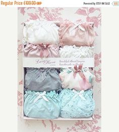 ON SALE 8x Panties Gift Box/ lingerie set/ ethical & sexy underwear, organic cotton, bridesmaid favor, cream, frilly, bridal, floral, plus s by luvahuva on Etsy https://www.etsy.com/listing/517698187/on-sale-8x-panties-gift-box-lingerie-set