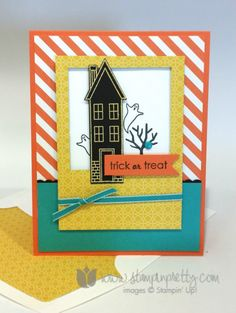 Stampin up stamping pretty demonstrator blog holiday home homemade framelits die halloween ideas