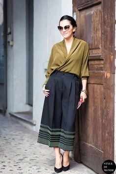 culottes. #TinaLeung in Paris.