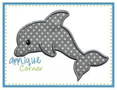 Dolphin Baby Applique Design