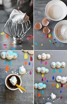 Les petites meringues nuages de Griottes pour Fricote Magazine - The making of Cloud Meringues by @Griottes for Fricote Magazine (love 'em)