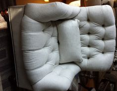 Linen, Tufted Club Chair Sales by Thomasville Furniture in Charleston, Augusta, and Savannah - Ernest Hemingway Collection Coastal Furniture, Living Room Furniture, Thomasville Furniture, Modern Coastal, Furniture Styles, Club Chairs, Online Furniture, Merino Wool Blanket, My Room