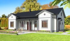 Simons Element: AARIA: 5 h/r + k - 129.0 m² Old Houses, Garage Doors, Shed, Floor Plans, Cottage, Outdoor Structures, Architecture, Outdoor Decor, Home Decor