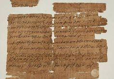 A 1,500 year old papyrus charm is the first ever found that refers to the Last Supper. Written on the back of a receipt it was folded and worn in a locket for protection.