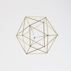 Brass Orb Himmeli / Modern Hanging Mobile / Geometric by HRUSKAA