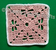 Dragonfly Stitch Crochet Coaster - free video tutorial from Pookie Doodle Crafts.