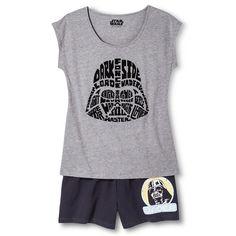1b09344840 Disney Women s Star Wars Darth Vader Pajama Set- Medium Heather Gray Dark  Gray Banana