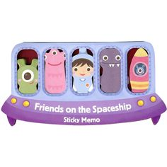 Sticky Memos Tallyho Let's Go Friends on the Spaceship  #UnusualGifts #YouKnowYouWantIt #karmakiss #UniqueGifts #allgiftythings