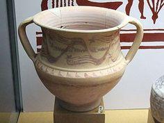 Crátera en el Museo de Zaragoza. Siglo I a. C..vasija cerámica de gran capacidad destinada a contener una mezcla de agua y vino