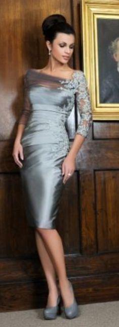 New Knee-Length Mother Of The Bride Dress Wedding Formal Evening Dress