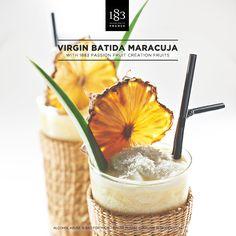 Virgin Batida Maracuja with 1883 Création Fruits Passion Fruit #exotic #passionfruit #cocktail #bartender