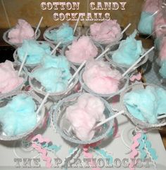 Cotton candy cocktails #carnival #party - Click image to find more food & drink Pinterest pins