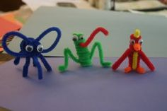 Great simple, small pipe cleaner animals. Try ahead of time--a few of the twists and turns can seem complicated if you don't know what you're doing.