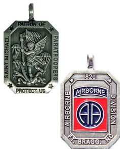 Saint Michael Patron of Paratroopers Medal- 82ND AIRBORNE DIVISION - Meach's Military Memorabilia & More