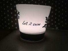 """Waxinelichtje """"let it snow"""""""