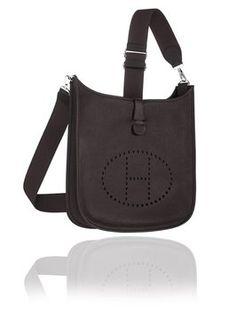 Hermes Evelyn 29cm Iii Pm Black Cross Body Bag $3,870
