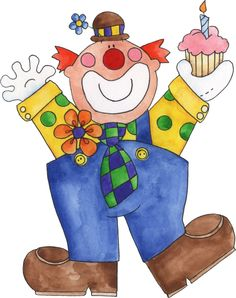 CLOWN WITH CUPCAKE