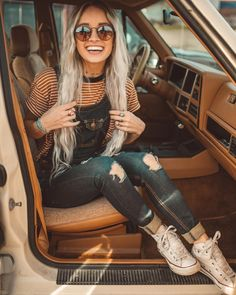 20 Edgy Fall Street Style 2018 Outfits To Copy - Street Style Outfits, Mode Outfits, Fall Outfits, Casual Outfits, Summer Outfits, Fashion Outfits, Outfits With Overalls, Denim Overalls Outfit, Fashion Trends