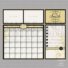 Dry Erase Calendar Message Board