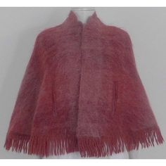 Buy VINTAGE Late c. Andrew Stuart Scotland Size S Grape Pink Mohair Blend Shawl , Oxfam, Andrew Stuart Scotland., Womens clothing, Coats and Jackets Pink Shawl, 1970s, Scotland, Fur Coat, Weaving, Wool, Clothes For Women, Knitting, Crochet
