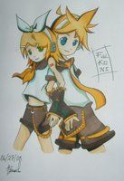 Len and Rin. Frome devientart and by Kiwi-Francis