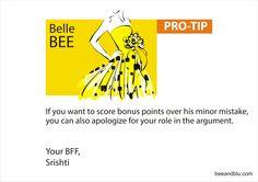 Belle BEE tip for 'Sorry Series - III' @ Bee & Blu - beeandblu.com #indianfashionblog #indianlifestyleblog #boyfriend #blogger #sorry #relationship #lifestyletips #relationshiptips