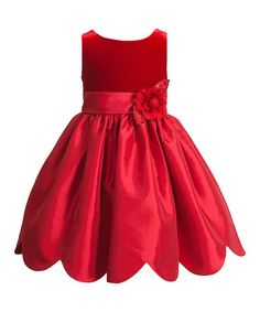 Another great find on #zulily! Red Flower Dress - Infant, Toddler & Girls #zulilyfinds