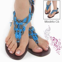 Just this picture of macrame sandals. Summer fun.