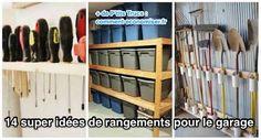14 Super Idées de Rangement Pour le Garage. Garage Shelf, Garage Walls, Garage Storage, Ceiling Storage, Wall Storage, Locker Storage, Folding Workbench, Pvc Tube, Messy Room
