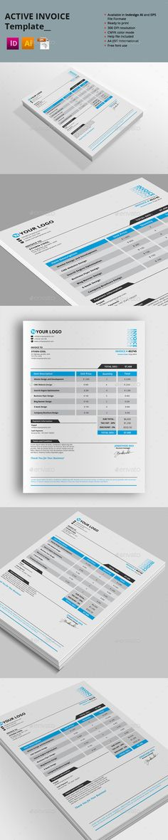 Invoice Template  Proposals Stationery And Invoice Template