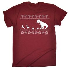 123t USA Men's Christmas Lunch For T-Rex Funny T-Shirt