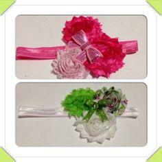 Shabby flower headbands