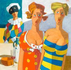 Title: Amore tu lo sai, Technique: olio su tela, Dimension: 100x100, Artist: Lucio Diodati