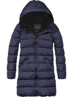 Long Down Jacket   Jackets   Women's Clothing at Scotch & Soda