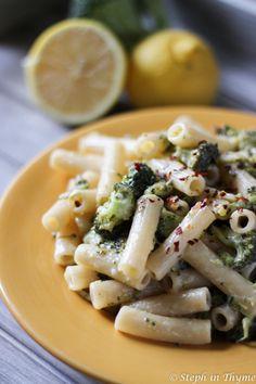 One Pot Lemony Broccoli Rigatoni. One Pot Lemony Broccoli Rigatoni - Simple creamy and hearty one pot pasta. Gluten-free dairy-free and vegan. Vegan Dinner Recipes, Dairy Free Recipes, Vegan Dinners, Vegetarian Recipes, Healthy Recipes, Gluten Free, Vegan Vegetarian, Savoury Recipes, Healthy Meals