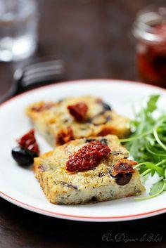 Gateau de riz Italien aux tomates, olives et mozzarella Le Diner, Mozzarella, Quiche, Risotto, French Toast, Grains, Appetizers, Meat, Chicken
