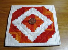 1/12th scale patchwork quilt.